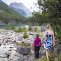 Girls Hiking in Jasper National Park