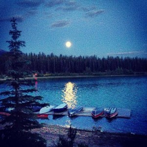 June Moon over Patricia Lake